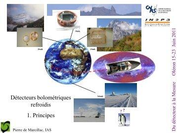 Détecteurs bolométriques refroidis: 1. principes - IN2P3
