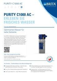 PURITY C1000 AC – ERlEbEn SIE fRISChES WASSER - Brita
