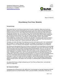 Einschätzung Terra Preta / Biokohle - Bund