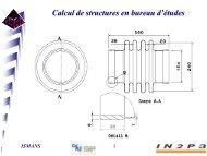 Calcul de structures en bureau d'études - IN2P3
