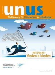 UNUS Ausgabe 01 / 2013 - Bund der Selbständigen (BDS ...