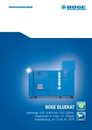 boge bluekat - BOGE KOMPRESSOREN Otto Boge GmbH & Co. KG