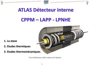 Etude des détecteurs pixel ATLAS - IN2P3