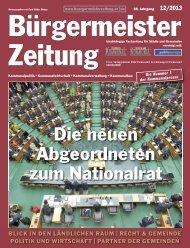 Ausgabe 12/2013 - Bürgermeister Zeitung