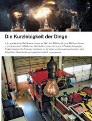 Die Kurzlebigkeit der Dinge - Deutsches Museum