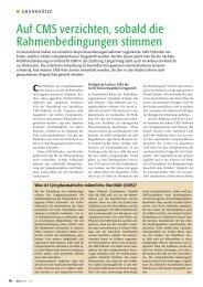 Auf CMS verzichten, sobald die ... - Bioaktuell.ch