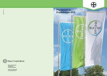 Pflanzenschutz- Empfehlungen 2014 - Bayer CropScience