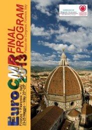 FINAL PROGRAM Palazzo dei Congressi, Florence, Italy - European ...