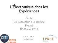 Électronique dans les Expériences - IN2P3