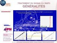 Traitement du signal dans une expérience IN2P3 - 1