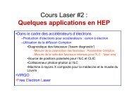Les lasers et leurs applications en physique des hautes ... - IN2P3