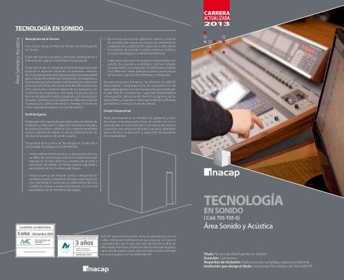 tecnología en sonido - Inacap