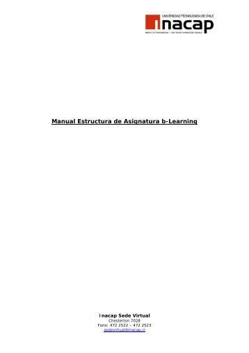 Manual Ingreso Alumnos y Estructura Cursos b-Learning - Inacap