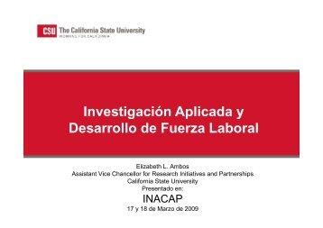 Investigacion Aplicada y Desarrollo de Fuerza de Trabajo - Inacap