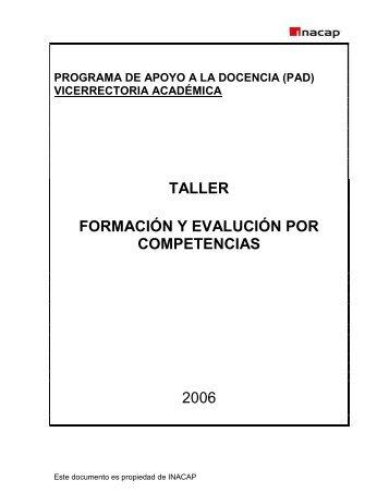 Formación y Evaluación por Competencias - Inacap