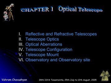 Optical Telescopes Intro - inaoe