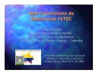 Red Colombiana de Bibliotecas ISTEC - inaoe