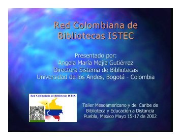 Red Colombiana de Bibliotecas ISTEC - inaoe
