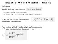 Measurement of the stellar irradiance f - inaoe