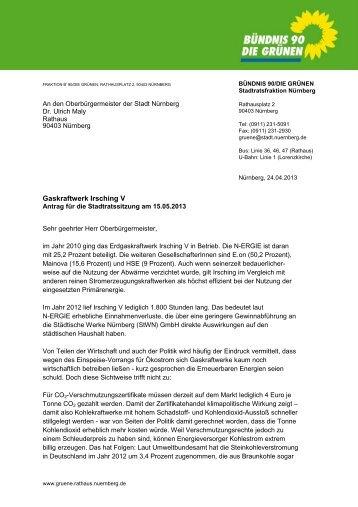 Antrag - Stadt Nürnberg