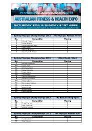 Sydney Physique Championships 2013 Ms Physique ... - INBA