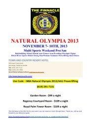 NATURAL OLYMPIA 2013 - INBA