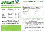 Entry Form - INBA