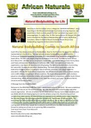 """the first Edition of our e-Magazine """"AFRICAN NATURALS"""". - INBA"""