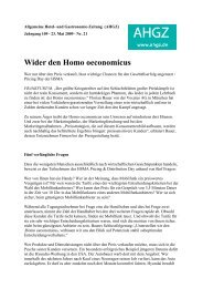 Wider den Homo oeconomicus - InBev Services