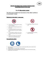 DRIVER INFORMATION/LOADING INSTRUCTION ... - InBev Services