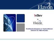 Kreditkartenakzeptanz zu Topkonditionen Exklusiv ... - InBev Services