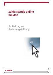 Ablesen der Zählerstände - Canon Deutschland