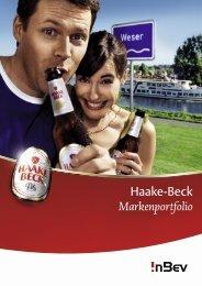 Haake-Beck Markenportfolio - InBev Services