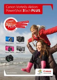 Canon Vorteils-Aktion: PowerShot 3fach PLUS. - Canon Deutschland
