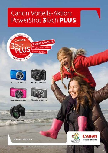 Canon Vorteils-Aktion: PowerShot 3fach PLUS. - Canon Deutschland