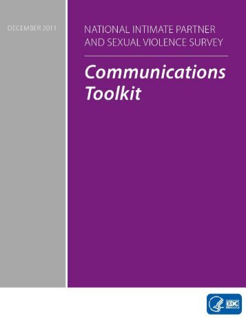 NISVS Communications Toolkit - Centers for Disease Control and ...