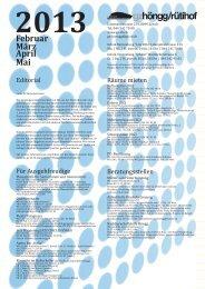 2013 Februar März April Mai - Zürcher Gemeinschaftszentren