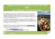 Bio Angebote für Schulen - Stadt Heidelberg