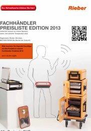 FACHHÄNDLER PREISLISTE EDITION 2013
