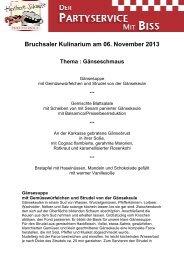 Bruchsaler Kulinarium am 06. November 2013 - Party-Service ...