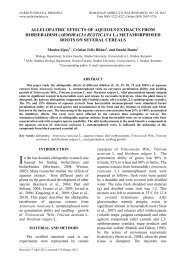 Allelopathic effects of aqueous extracts from