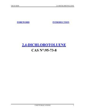 2,4-DICHLOROTOLUENE CAS N°:95-73-8