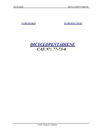 DICYCLOPENTADIENE CAS N°: 77-73-6