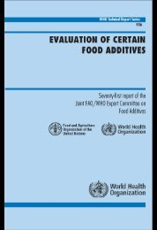 evaluation of certain food additives - libdoc.who.int - World Health ...