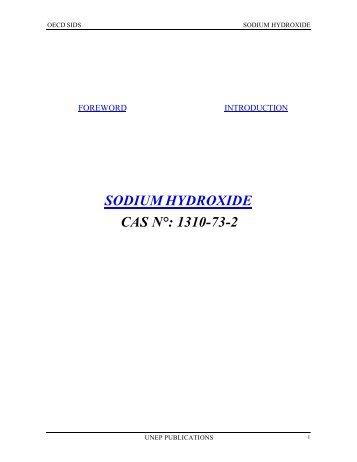 SODIUM HYDROXIDE CAS N°: 1310-73-2