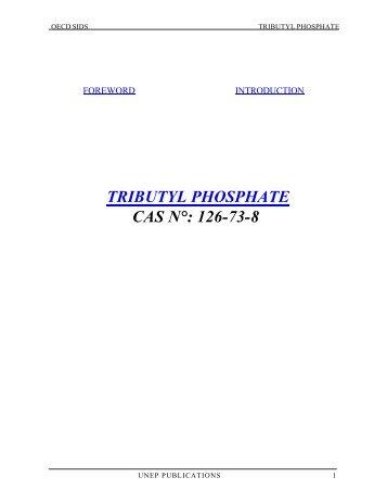 TRIBUTYL PHOSPHATE CAS N°: 126-73-8 - ipcs inchem