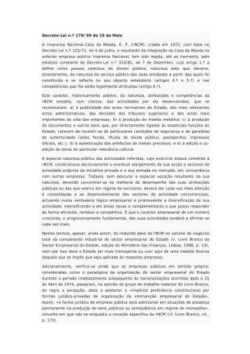 documento - Imprensa Nacional-Casa da Moeda