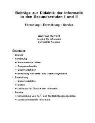 A. Schwill - Didaktik der Informatik - Universität Potsdam