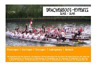 Drachenboot-Cup 2012 und 2013