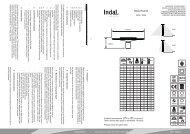 100422 P2399 manual.cdr - Indal Deutschland GmbH